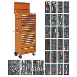 Sealey Tool Chest Combination 14 Drawer with Ball Bearing Slides Orange & 1179