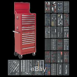 Sealey Tool Chest Combination 14 Drawer with Ball Bearing Slides Red & 1179pc