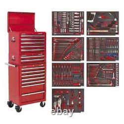 Sealey Tool Chest Combination 14 Drawer with Ball Bearing Slides Red & 446p
