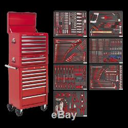 Sealey Tool Chest Combination 14 Drawer with Ball Bearing Slides Red & 446pc T