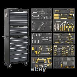 Sealey Tool Chest Combination 16 Drawer with Ball Bearing Slides Black/Grey
