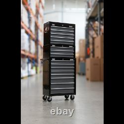 Sealey Tool Chest Combination 16 Drawer with Ball Bearing Slides Black / Grey