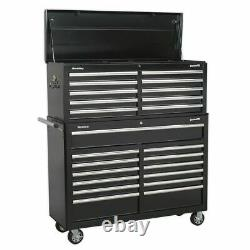 Sealey Tool Chest Combination 23 Drawer with Ball Bearing Slides Black