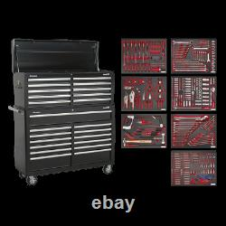 Sealey Tool Chest Combination 23 Drawer with Ball Bearing Slides Black with