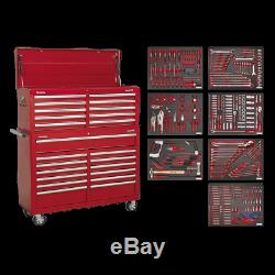 Sealey Tool Chest Combination 23 Drawer with Ball Bearing Slides Red & 446pc Kit