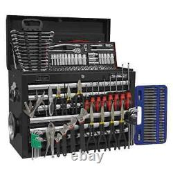 Sealey Topchest 10 Drawer with Ball Bearing Slides Black & 139pc Tool Kit G