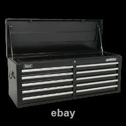 Sealey Topchest 10 Drawer with Ball Bearing Slides Black AP5210TB