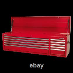 Sealey Topchest 10 Drawer with Ball Bearing Slides Heavy Duty Red AP6610