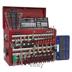 Sealey Topchest 10 Drawer with Ball Bearing Slides Red & 139pc Tool Kit Gar