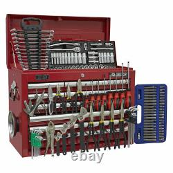 Sealey Topchest 10 Drawer with Ball Bearing Slides Red & 140pc Tool Kit