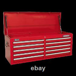 Sealey Topchest 10 Drawer with Ball Bearing Slides Red AP5210T