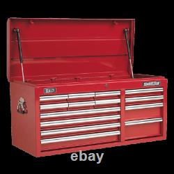 Sealey Topchest 14 Drawer with Ball Bearing Slides Heavy Duty Red AP41149