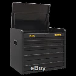 Sealey Topchest 4 Drawer with Ball Bearing Slides Carbon Fibre Effect Limited