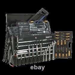 Sealey Topchest 5 Drawer with Ball Bearing Slides Black & 230pc Tool Kit