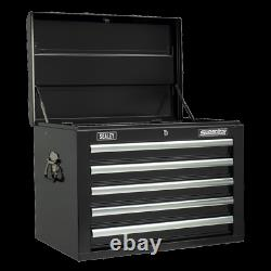 Sealey Topchest 5 Drawer with Ball Bearing Slides Black AP26059TB