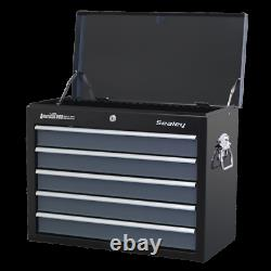 Sealey Topchest 5 Drawer with Ball Bearing Slides Black / Grey AP3505TB