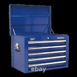 Sealey Topchest 5 Drawer with Ball Bearing Slides Blue AP26059TC