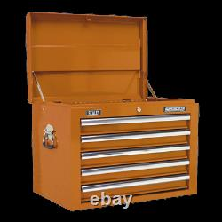 Sealey Topchest 5 Drawer with Ball Bearing Slides Orange AP26059TO