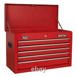 Sealey Topchest 5 Drawer with Ball Bearing Slides Red-AP225