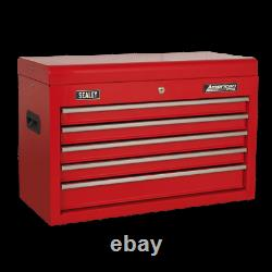 Sealey Topchest 5 Drawer with Ball-Bearing Slides Red AP225