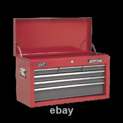 Sealey Topchest 6 Drawer with Ball-Bearing Slides Red/Grey