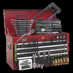 Sealey Topchest 6 Drawer with Ball Bearing Slides Red/Grey & 98pc Tool Kit