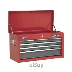 Sealey Topchest 6 Drawer with Ball Bearing Slides Red/Grey AP2201BB