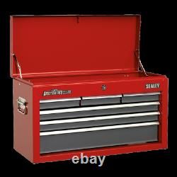 Sealey Topchest 6 Drawer with Ball Bearing Slides Red / Grey AP2201BB