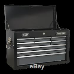 Sealey Topchest 9 Drawer with Ball Bearing Slides Black/Grey