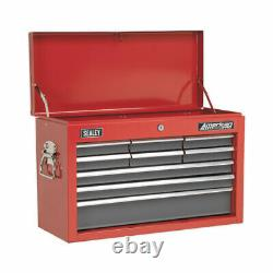 Sealey Topchest 9 Drawer with Ball Bearing Slides Red/Grey