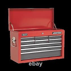 Sealey Topchest 9 Drawer with Ball Bearing Slides Red/Grey AP22509BB Free P&P