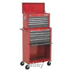 Sealey Topchest-Rollcab Combination 13 Drawer-Ball Bearing Slides-Red/Grey