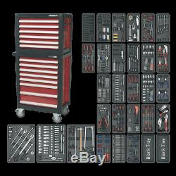 Sealey Topchest & Rollcab Combination 14 Drawer with Ball Bearing Slides & 1233p