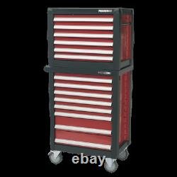 Sealey Topchest&Rollcab Combination 14 Drawer with Ball Bearing Slides &1233pc Set