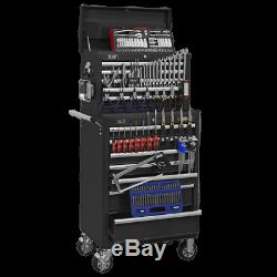 Sealey Topchest & Rollcab Combination 15 Drawer with Ball Bearing Slides Black