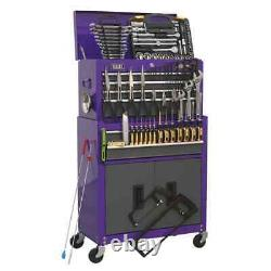 Sealey Topchest & Rollcab Combination 6 Drawer with Ball Bearing Slides Pur