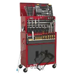 Sealey Topchest & Rollcab Combination 6 Drawer with Ball Bearing Slides Red/Gr