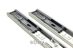 Soft Close Full Extension Drawer Slides 10-24 Ball Bearing Side or Rear Mount