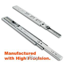 Soft Close Side Mount Ball Bearing Drawer Slides 12 to 24 High-Quality