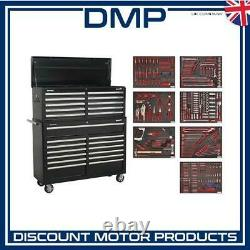 Tool Chest Combination 23 Drawer with Ball Bearing Slides Black with 446pc T