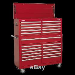 Tool Chest Combination 23 Drawer with Ball Bearing Slides Red AP52COMBO1