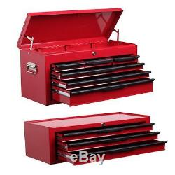 Tool chest combo 6 drawer top box with 3 drawer mid box chest ball bearing slide