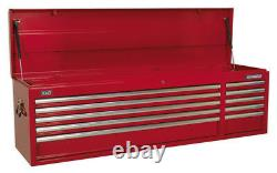 Topchest 10 Drawer With Ball Bearing Slides Heavy-duty Red From Sealey Ap6610