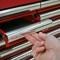 Topchest 10 Drawer with Ball Bearing Slides Heavy-Duty Red Sealey AP41110