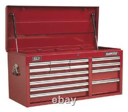 Topchest 14 Drawer With Ball Bearing Slides Heavy-duty Red From Sealey Ap41149