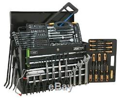 Topchest 5 Drawer with Ball Bearing Slides Black & 230pc Tool Kit Sealey