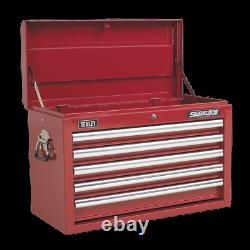 Topchest 5 Drawer with Ball Bearing Slides Red