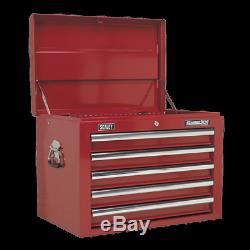 Topchest 5 Drawer with Ball Bearing Slides Red Sealey AP26059T