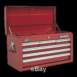 Topchest 6 Drawer with Ball Bearing Slides Red UK SEALEY STOCKIST