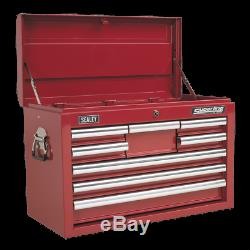 Topchest 8 Drawer with Ball Bearing Slides Red SEALEY AP33089 by Sealey